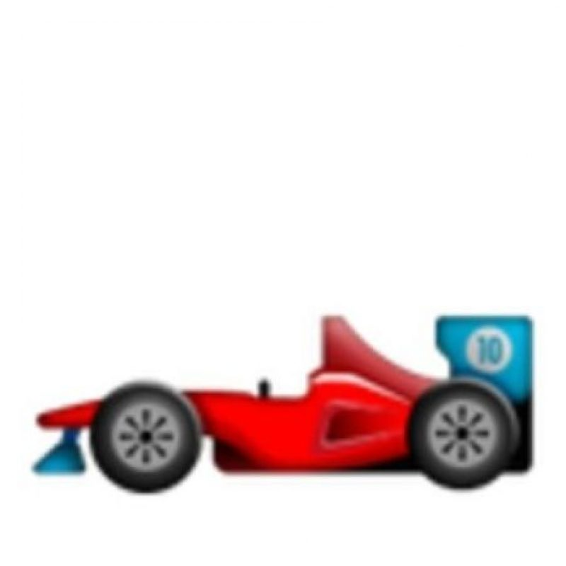Auto de la Fórmula 1. Foto:vía emojipedia.org