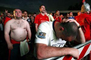 Los fans del Manchester United en este momento. Foto:Vía twitter.com/troll__football
