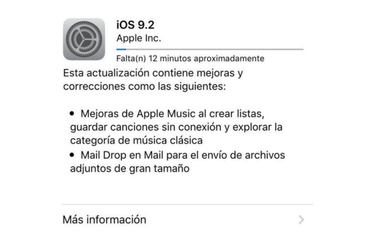 iOs 9.2 ya está disponible para dispositivos móviles de Apple. Foto: Apple