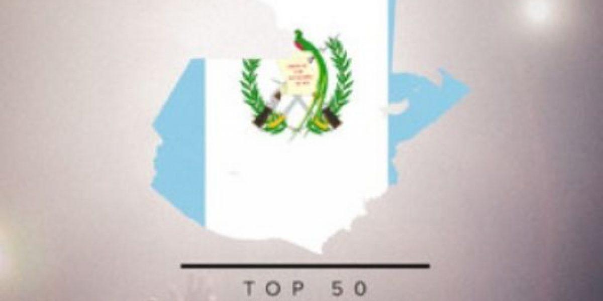 ¡Justin Bieber en el TOP 50 de Guatemala!