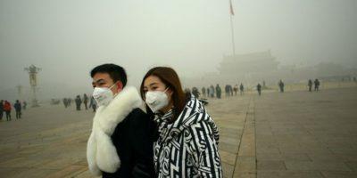Es la primera alerta roja que emite el gobierno de la ciudad por contaminación Foto:AFP