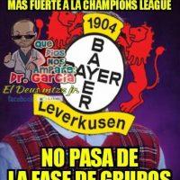 Bayer Leverkusen acaparó las burlas por quedar eliminado de los octavos de final. Foto:Vía twitter.com