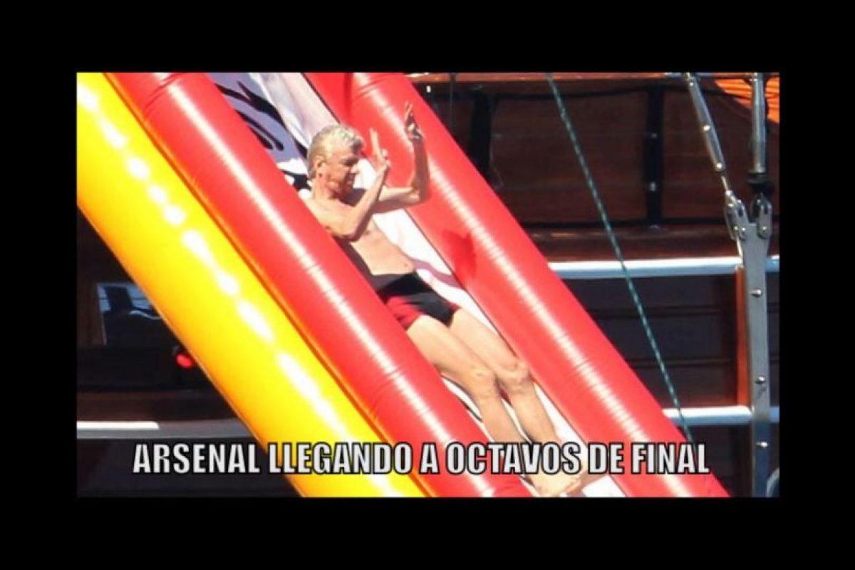 Y Arsenal cumplió y también está en la fase de los mejores 16. Foto:Vía twitter.com