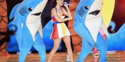 ¿Recuerdan a los tiburones de Katy Perry en el Super Bowl? Foto: Getty Images