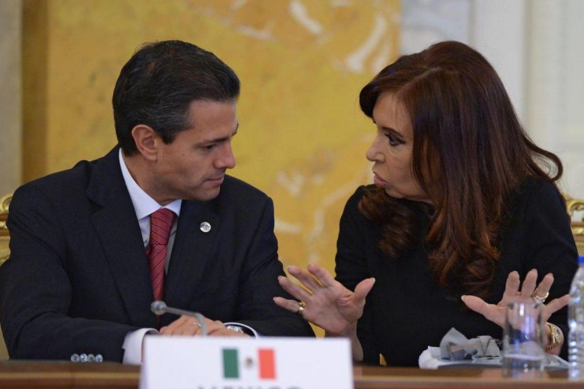 2013, con el presidente Enrique Peña Nieto Foto:Getty Images