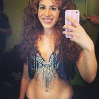 Esta fue su caraterización como la colombiana Foto:vía instagram.com/laura_esquivel