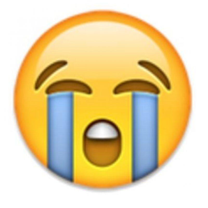 3- Cara llorando. Foto:vía emojipedia.org