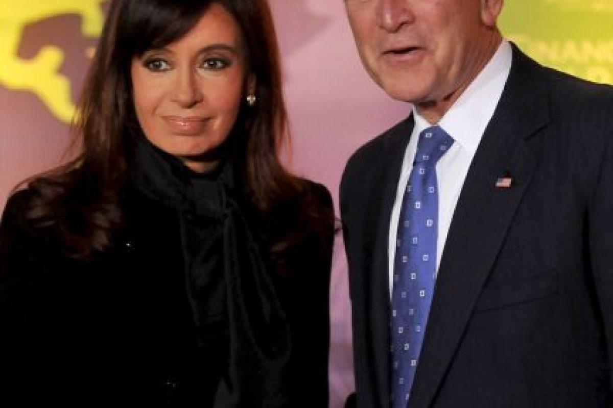 2008, con el expresidente George W. Bush Foto:Getty Images