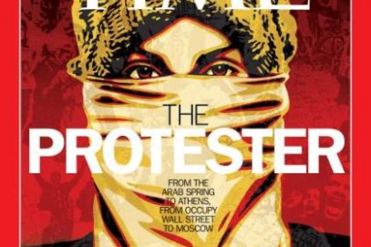 2011- Los manifestantes en Atenas, los de la Primavera Áraba, Occupy Wall Street, entre otros. Foto:Vía Time