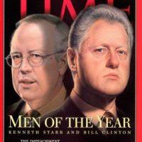 1998: Kenneth Starr y Bill Clinton Foto:Vía Time