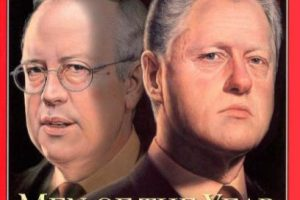 1998: Kenneth Starr y Bill Clinton Foto: Vía Time