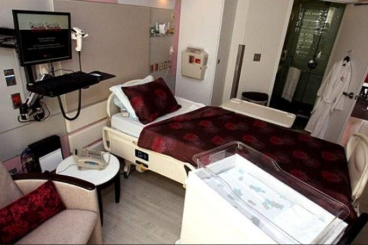 Así son las instalaciones en las que Kim descansó con su retoño. Foto:Cedars Sinai