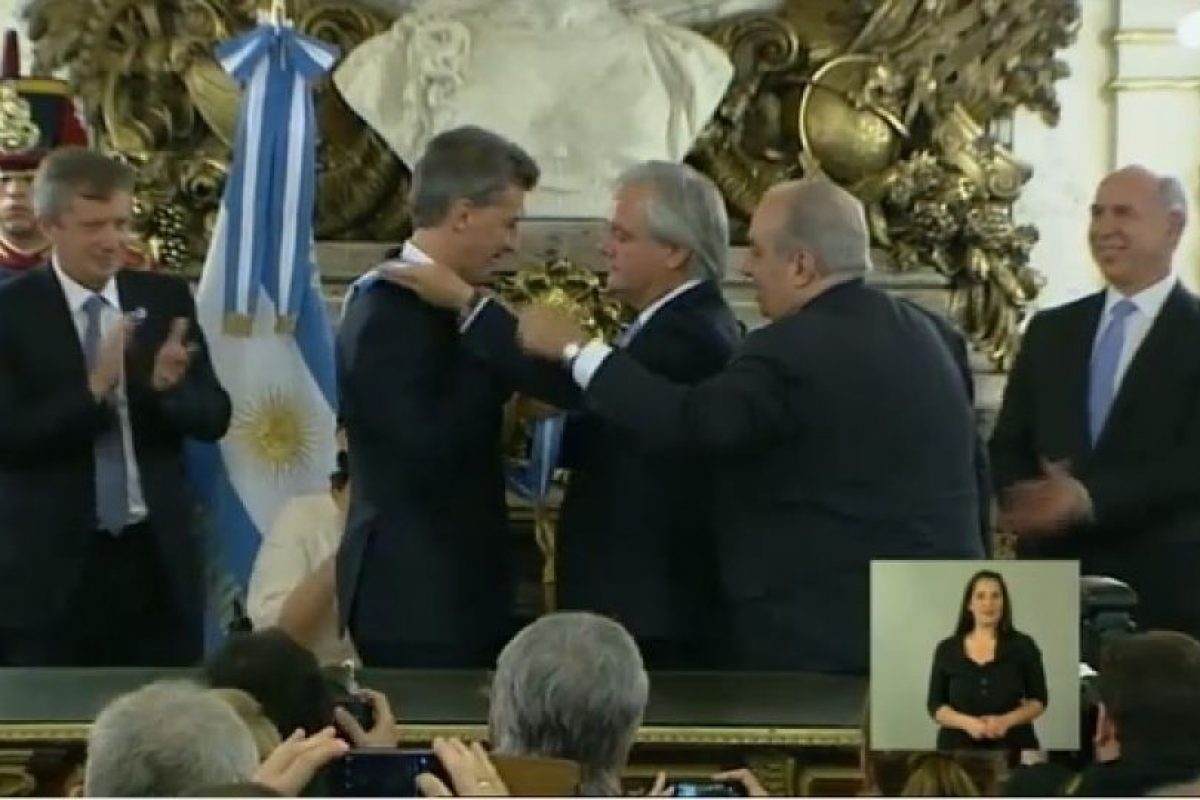 Foto:Transmisión oficial – Casa Rosada