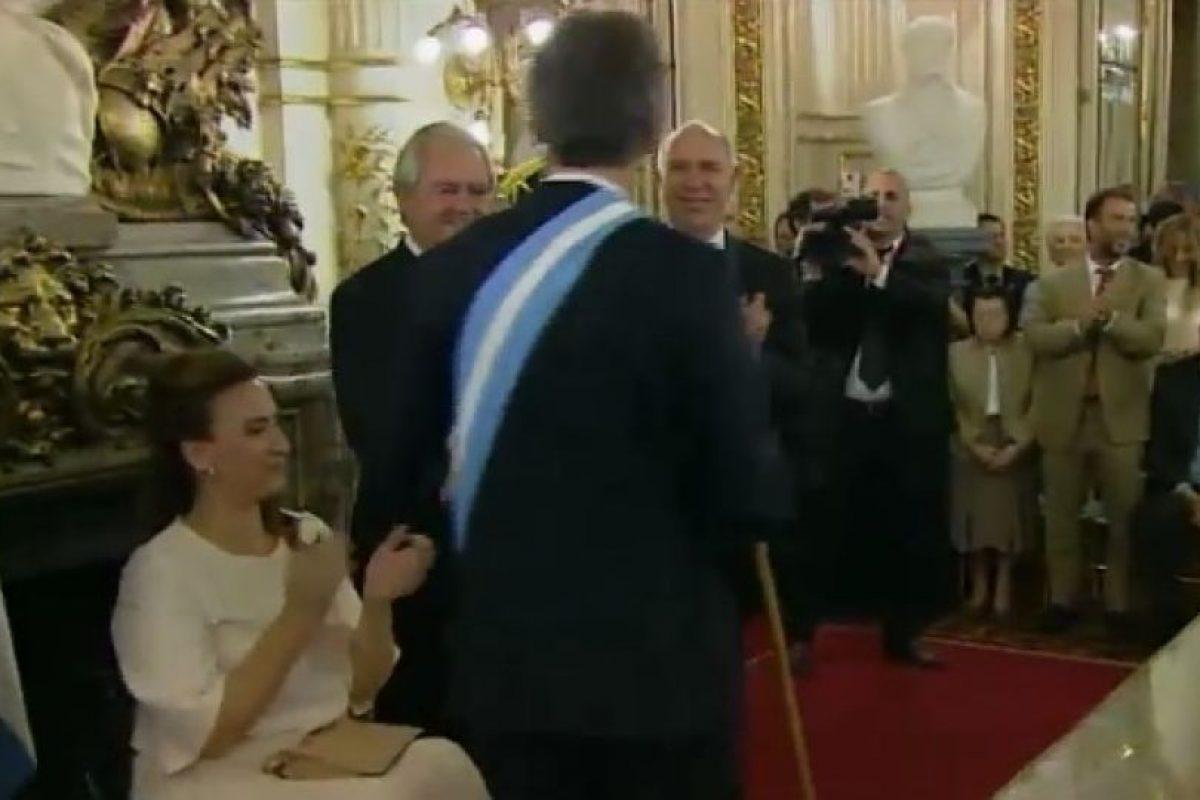 Con este acto, toma formalmente posesión del cargo de Presidente de la Nación Argentina Foto:Transmisión oficial – Casa Rosada