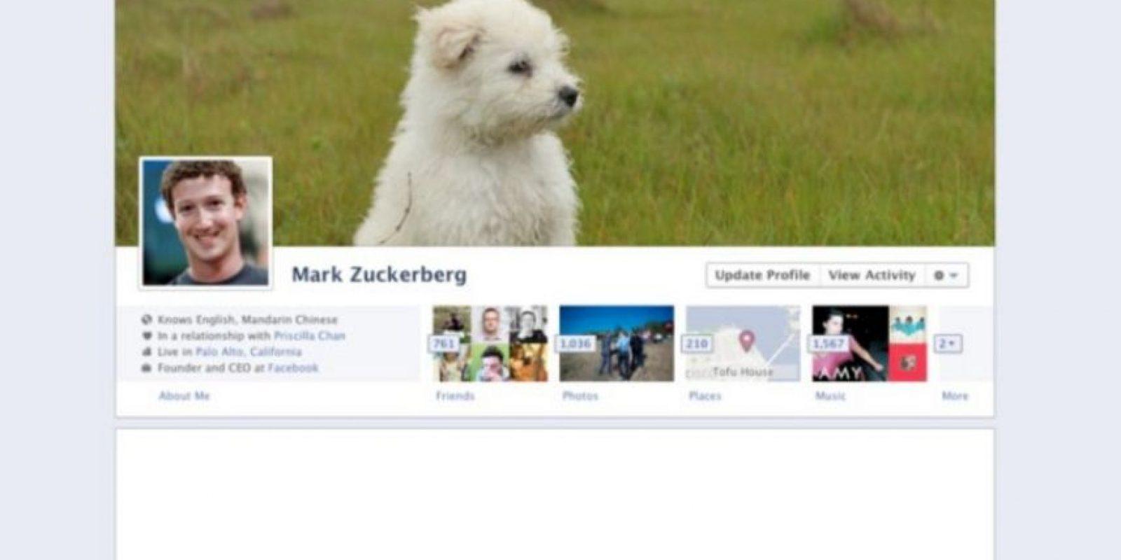 2011. El creador de Facebook se da cuenta que a los usuarios les encantan las imágenes y aparecen en diferentes formas. Foto:vía Facebook.com