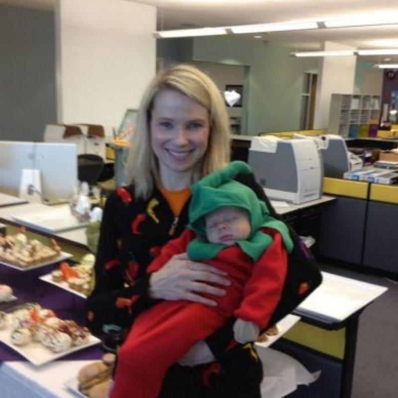 Marissa ya era madre de un niño de tres años de edad. Foto:twitter.com/marissamayer