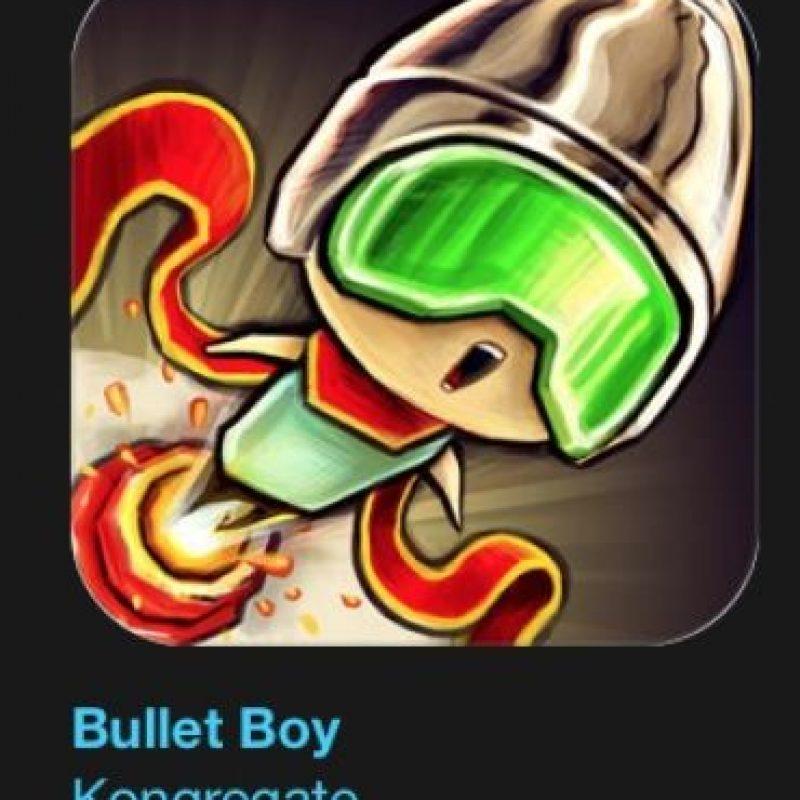 """14- """"Bullet Boy"""". Es gratuito. Una aventura divertidísima a través de mundos flotantes donde podrán dispararse desde poderosos cañones. Foto:vía Apple"""