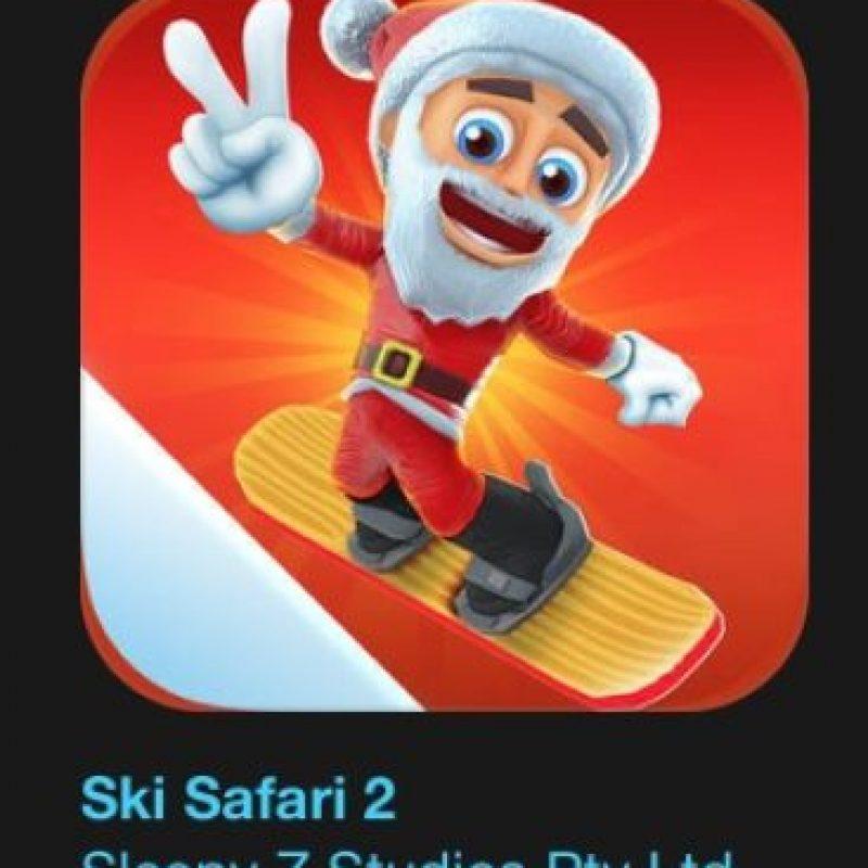 """20- """"Ski Safari 2"""". Cuesta dos dólares. Jueguen con la hermana de Sven, Evana, compartan la acción en el modo multijugador, realicen impresionantes trucos nuevos con esquíes y tablas de snowboard, monten sobre increíbles animales nuevos y tengan cuidado con la avalancha. Foto:vía Apple"""