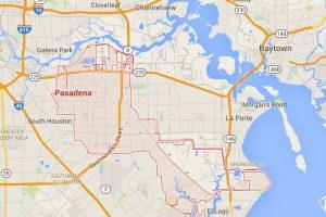 """Ella y su exmarido vivían en Pasadena, Texas cuando el """"romance"""" con su sobrino comenzó Foto:Google Maps"""