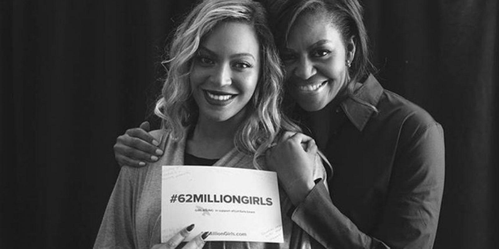 #62millonsgirls, es a favor de aquellas niñas en el mundo que no tienen oportunidad de estudiar Foto:Vía instagram.com/michelleobama/