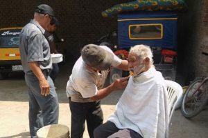 Luciano Chumán, fue bañado, vestido y arreglado. Foto:Vía facebook.com/municipalidaddeferrenafe