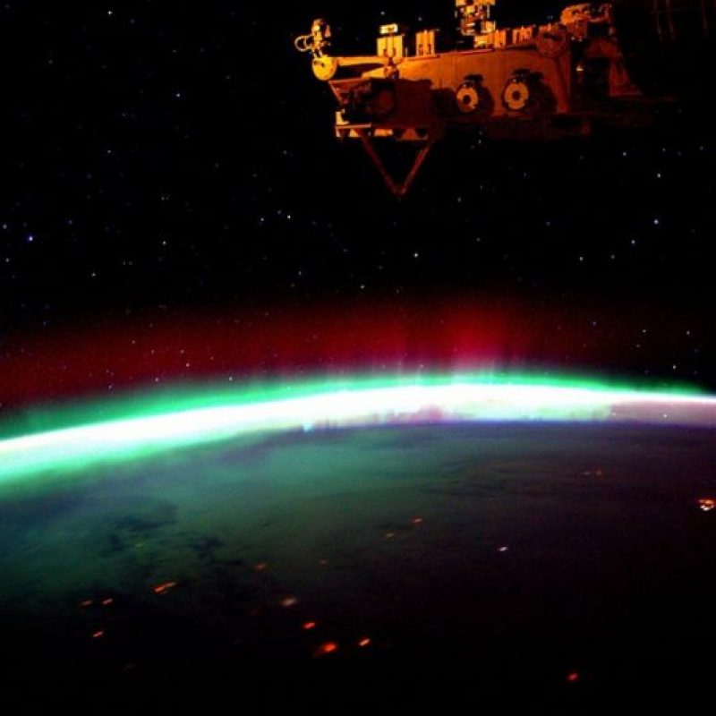 Aurora boreal Foto:Vía Instagram.com/stationcdrkelly