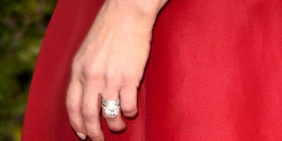 La actriz tiene un anillo valuado en un millón de dólares. Foto:Getty Images