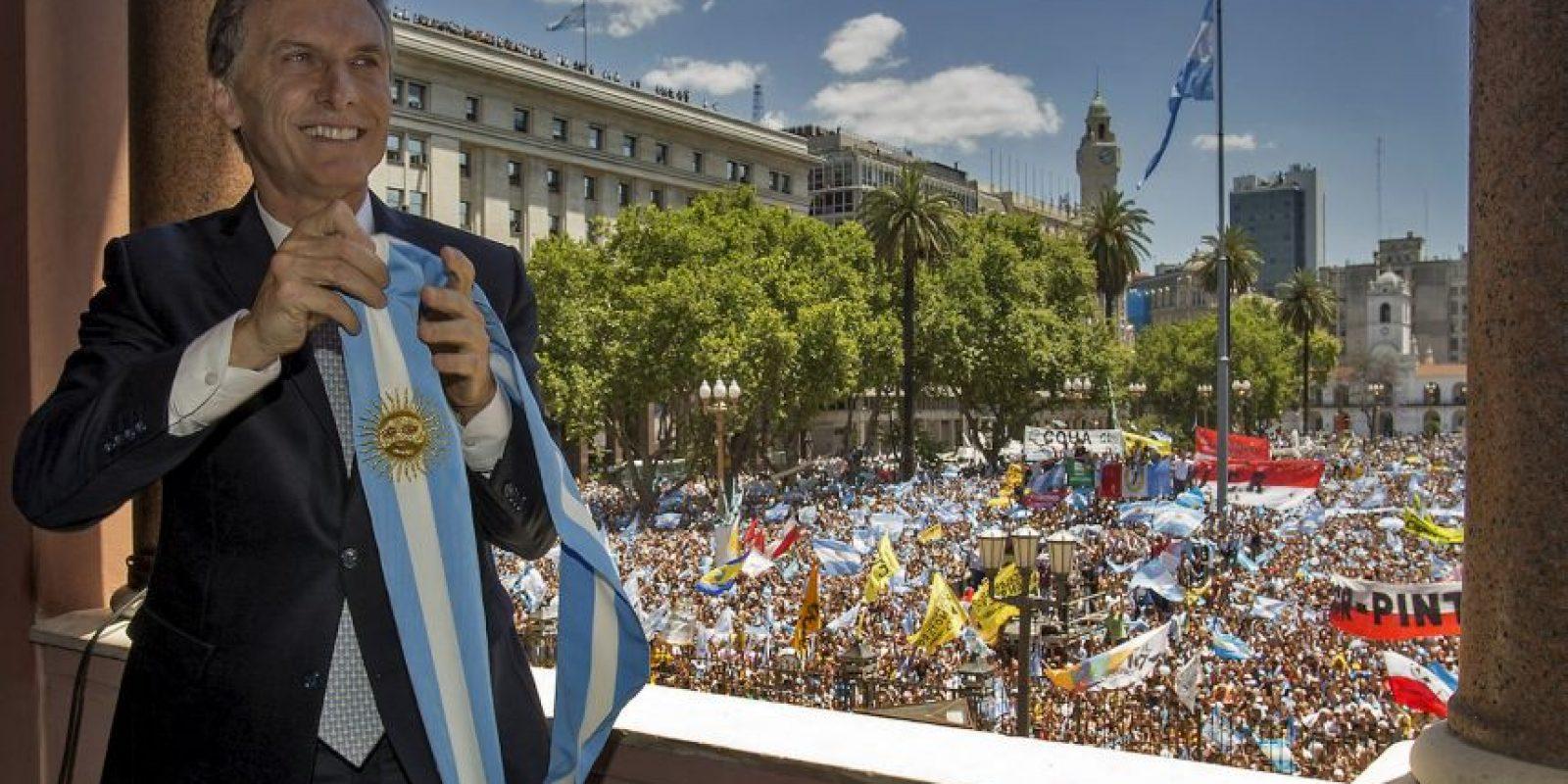 Mauricio Macri, en su ceremonia de toma de posesión como presidente de Argentina. Foto:AFP/ Presidencia argentina / JUAN MARCELO BAIARDI