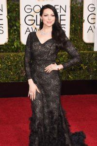 Laura Prepon, como Morticia Addams. Foto:vía Getty Images
