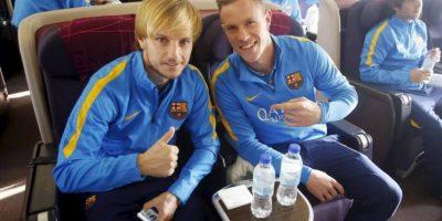 Dúo de rubios: Ivan Rakitic y Marc-André Ter Stegen. Foto:FC Barcelona