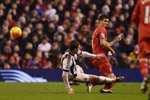 """Esto ocurrió en el duelo entre los """"Reds"""" y el West Bromwich Albion. Foto:Getty Images"""