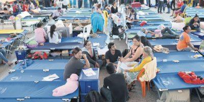 Afectados de El Cambray piden apoyo para no ser retirados de albergues
