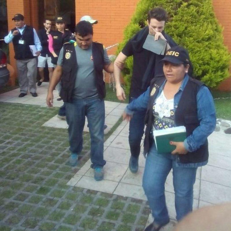 Rodrigo Banús Asturias, detenido. Foto:PNC