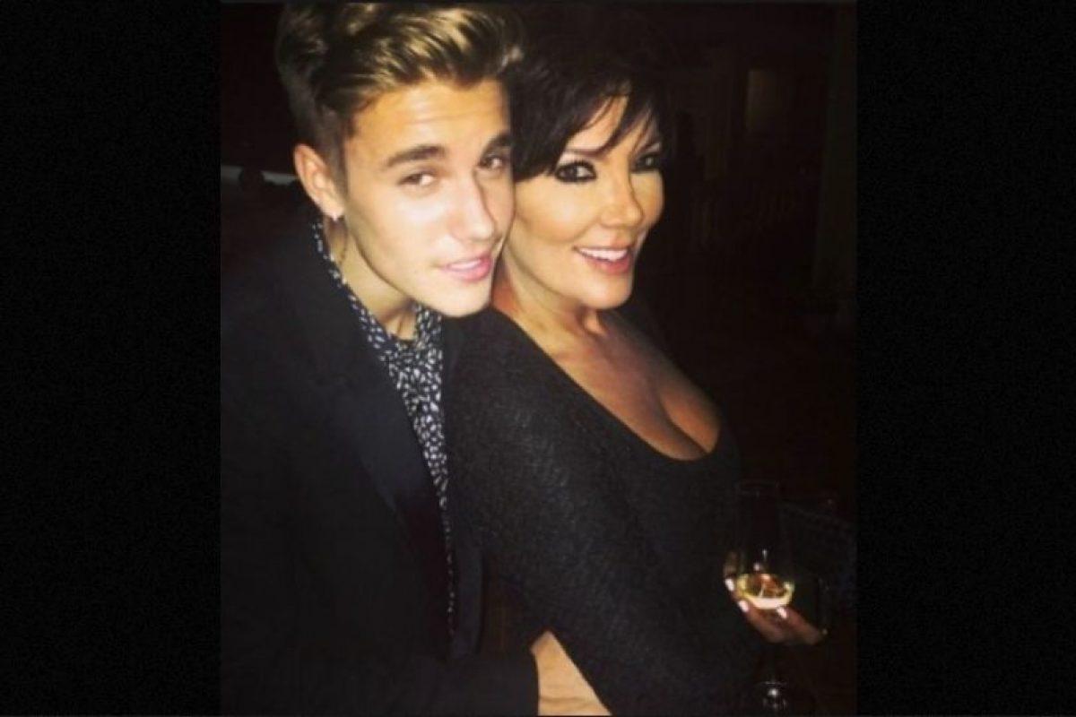Y de Kris Jenner, la matriarca de esta familia. Foto:Instagram/justinbieber