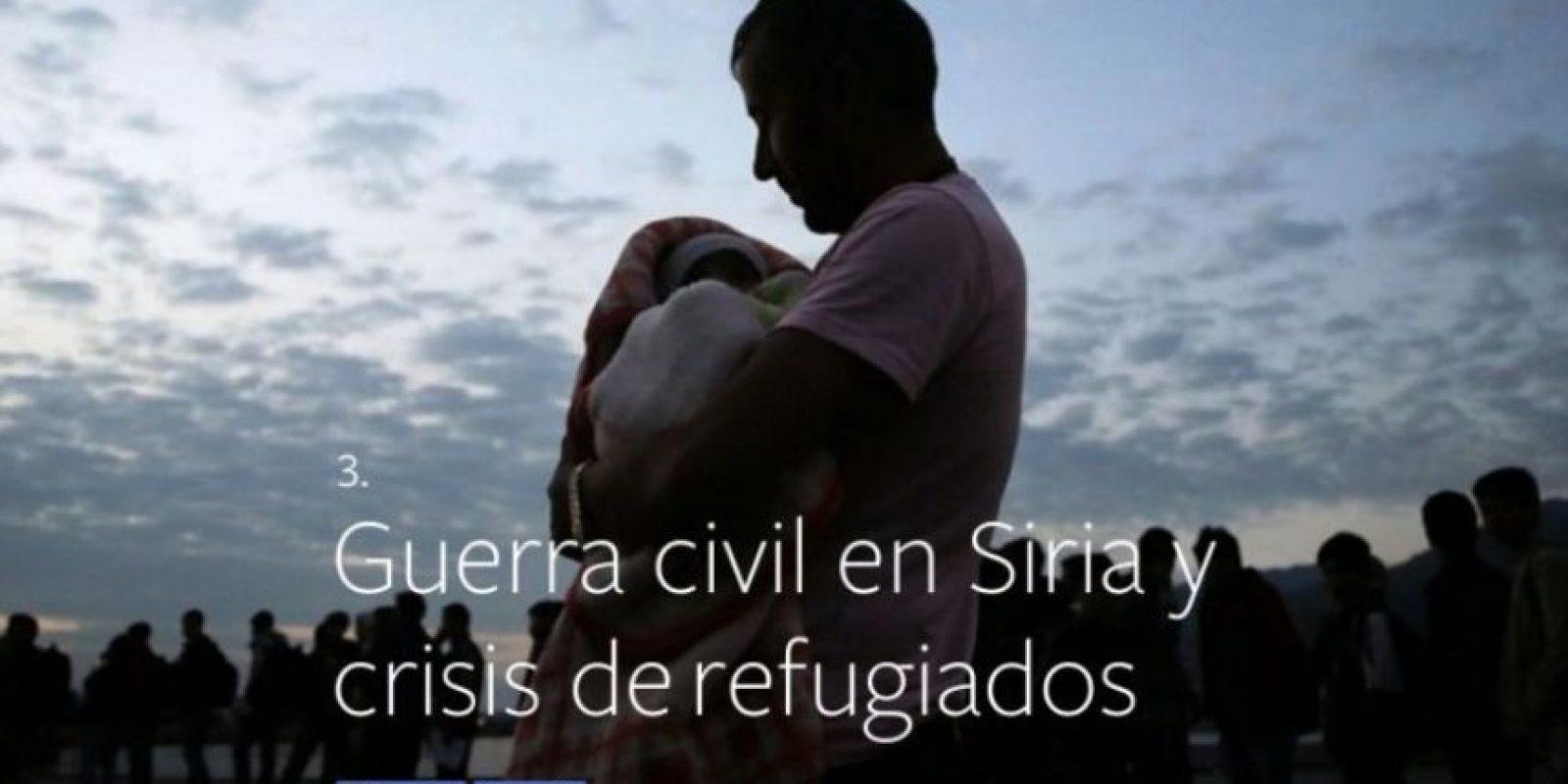 3- Guerra civil en Siri y crisis de refugiados. Foto:vía Facebook.com