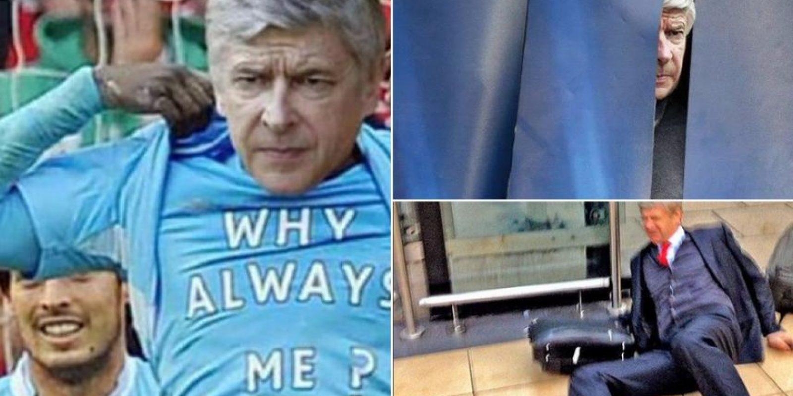 La reacción de Wenger Foto:Twitter