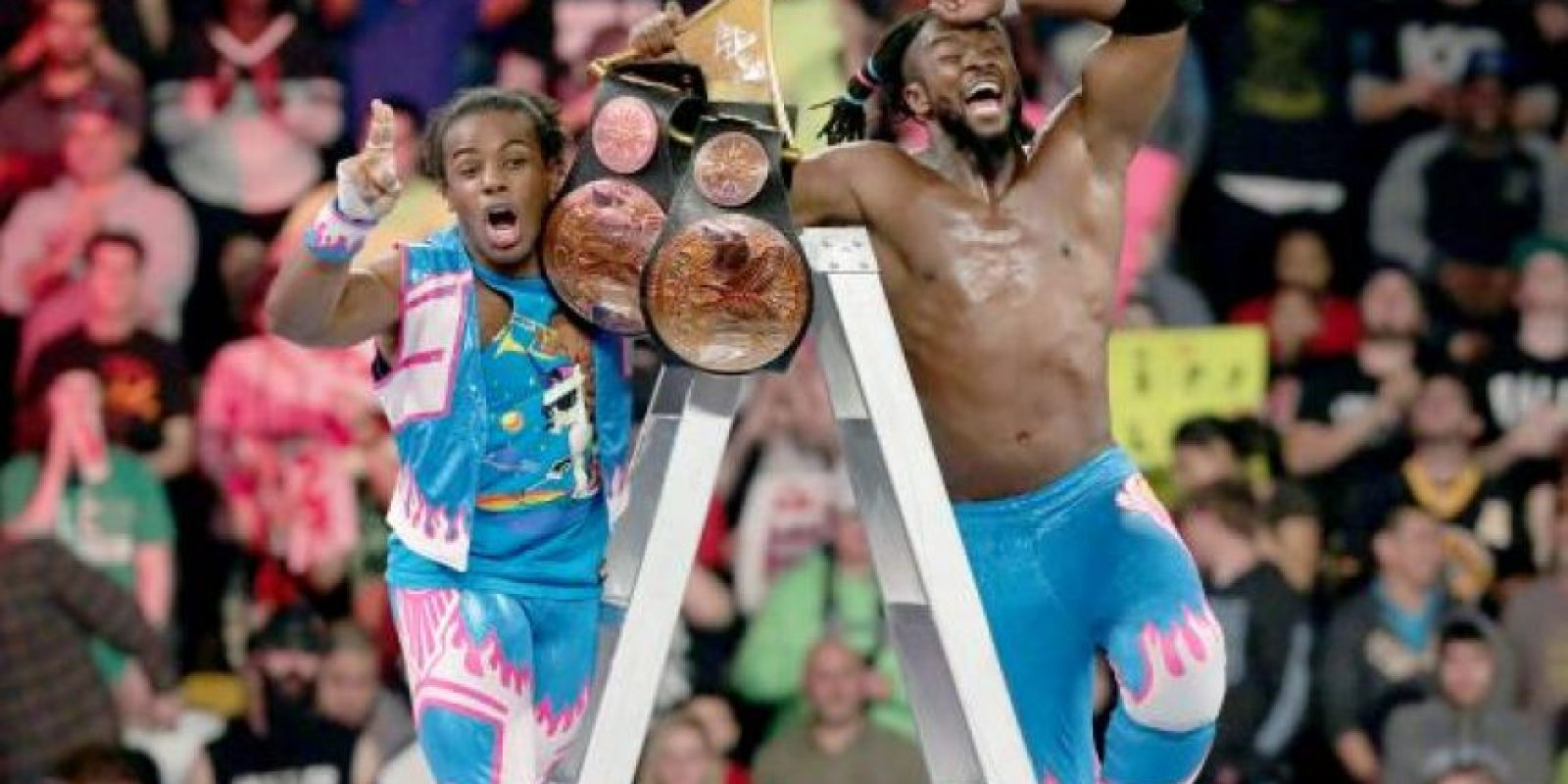 The New Day se impuso en el combate Foto: WWE
