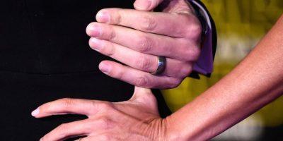 El anillo de bodas como el de compromiso, fueron también los protagonistas de la noche. Foto:Getty Images