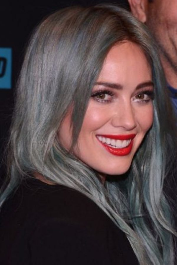 Hilary Duff con maquillaje Foto: Getty Images