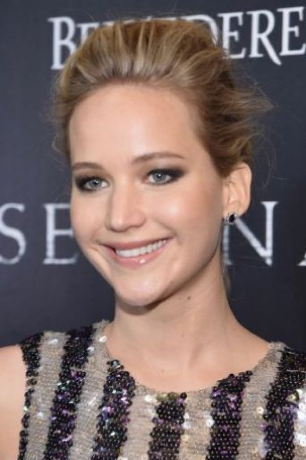 Jennifer Lawrence con maquillaje Foto: Getty Images