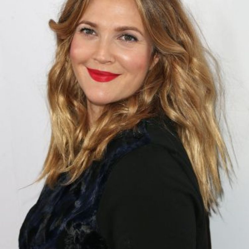 Drew Barrymore con maquillaje Foto: Getty Images