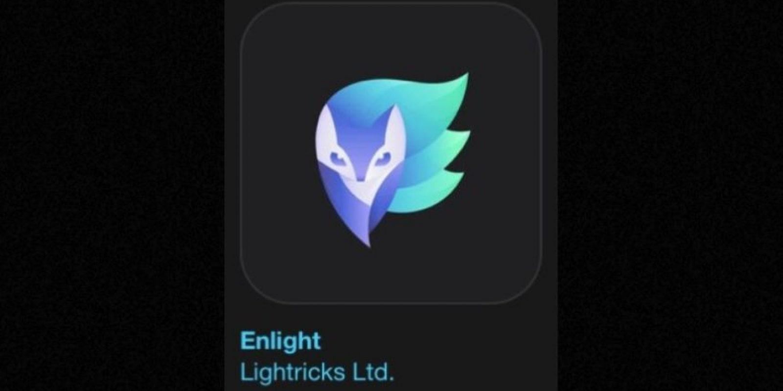 """2- """"Enlight"""". Cuesta cuatro dólares y convierte sus fotos en obras de arte con la app de edición más completa. Foto:Apple"""