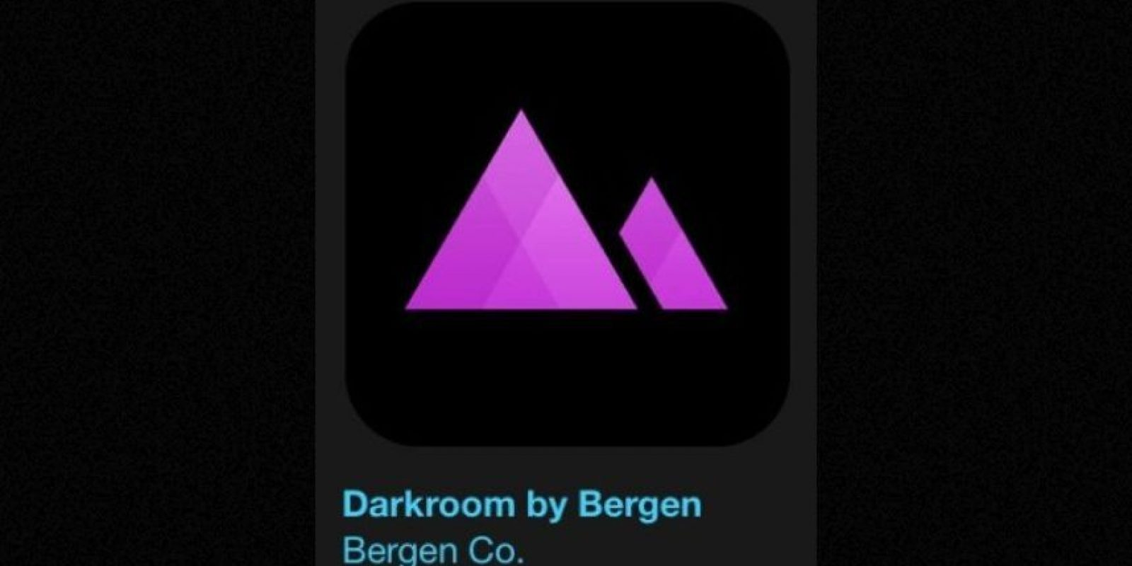 """7- """"Darkroom by Bergen"""". Es gratuita y permite captar el estilo perfecto para sus fotos de una forma rápida y sencilla. Foto:Apple"""