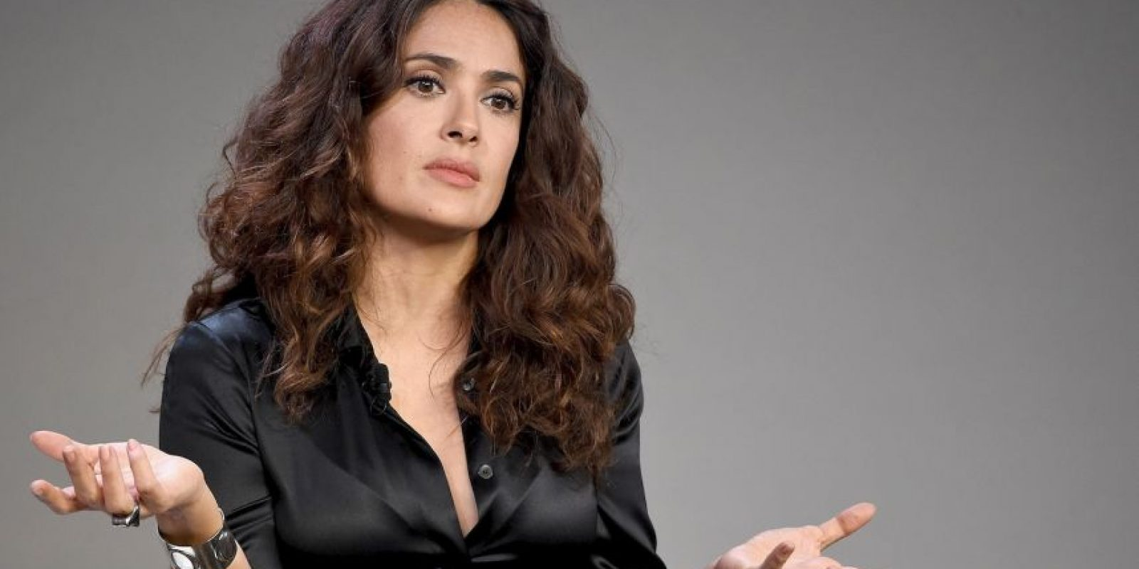 Salma Hayek con maquillaje Foto: Getty Images