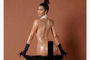 "¿Recuerdan sus polémicos desnudos? Foto:""Paper Magazine"""