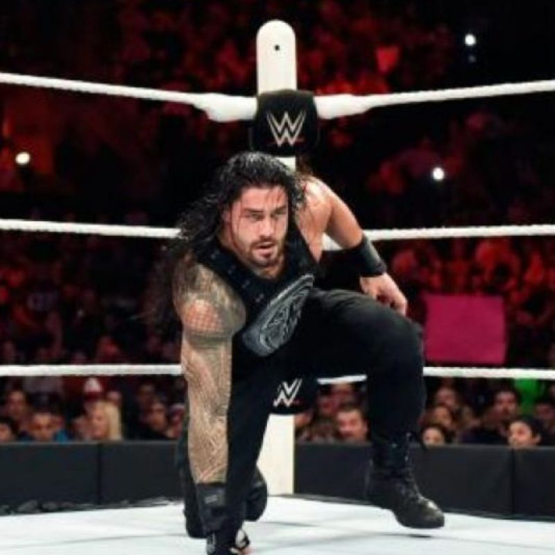 """15. Es el segundo Campeonato Mundial de Peso Pesado que gana en WWE, antes lo había conseguido en Hell in a Cell, aunque fue despojado el mismo día por Sheamus y su """"Dinero en el Banco"""" Foto:WWE"""