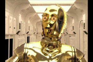 C3PO, androide en su forma final interpretado por Anthony Daniels (episodios III al VII). Foto:Publinews