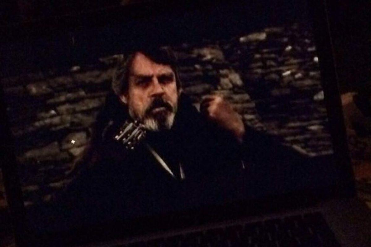 """""""Luke Skywalker"""" en """"Star Wars: El despertar de la fuerza"""" Foto:Twitter/bravoINTEL"""