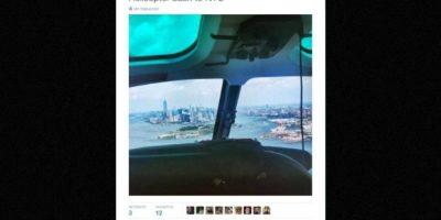 """De regreso en helicóptero"" Foto:Twitter.com – Archivo"