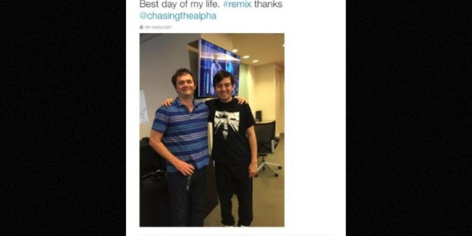 """""""El mejor día de mi vida"""" Foto:Twitter.com – Archivo"""
